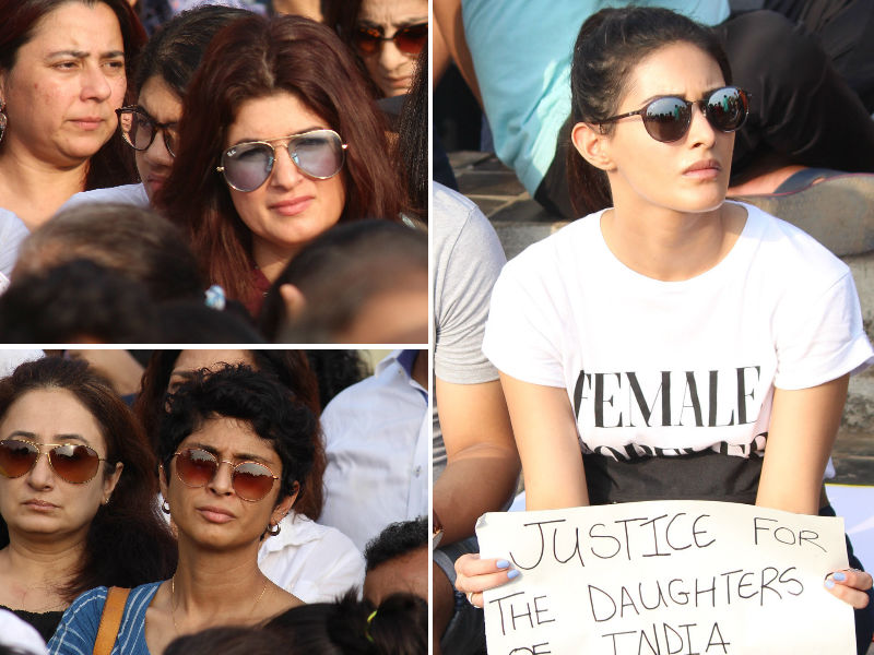 Twinkle Khanna, Kiran Rao Others Join Protest Against Kathua And Unnao Cases