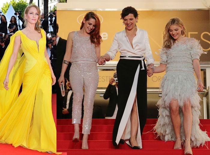 Femme Fatales@Cannes: Uma, Kristen, Chloe, Juliette