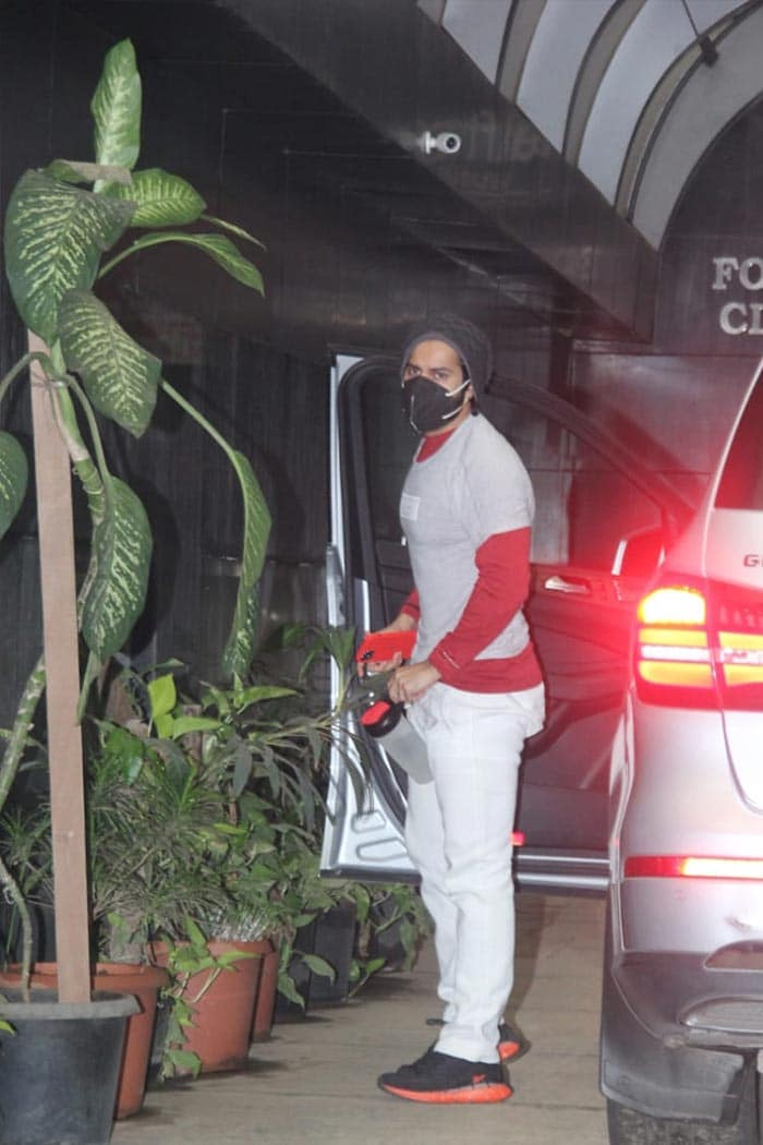 Actor Varun Dhawan was on Wednesday spotted outside his gym.