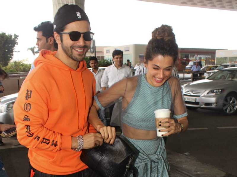 Varun And Taapsee Can't Stop Laughing