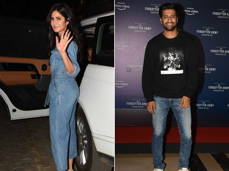 Vicky And Katrina Together Watch Sunny Kaushal's  'The Forgotten Army'