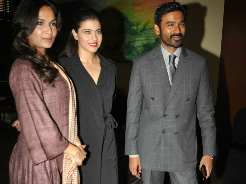 Excuse Us Please, VIPs Kajol And Dhanush Are Here