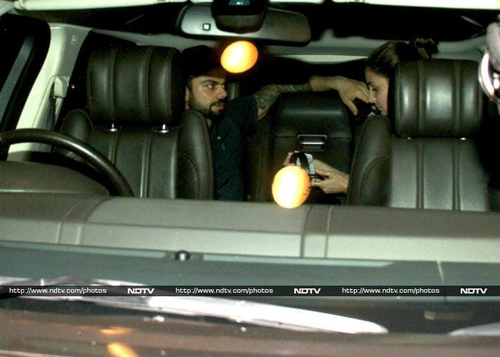 Such a Sweetheart. Virat Sees-Off Anushka