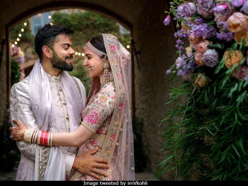 On First Anniversary, Anushka, Virat Share Unseen Pics From Their Wedding Album