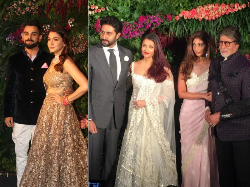 The Bachchans, Shah Rukh, Priyanka Headline Virushka's Mumbai Reception
