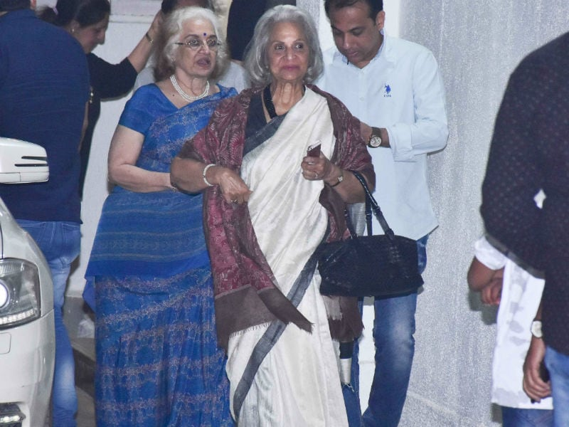 Waheeda Rehman And Asha Parekh Attend Simmba  Screening