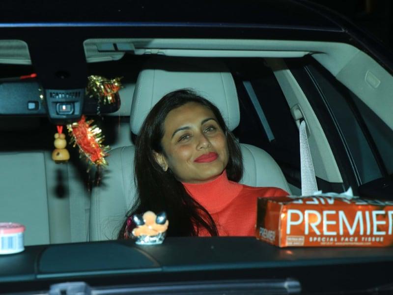 Rani Mukerji Attends War Screening