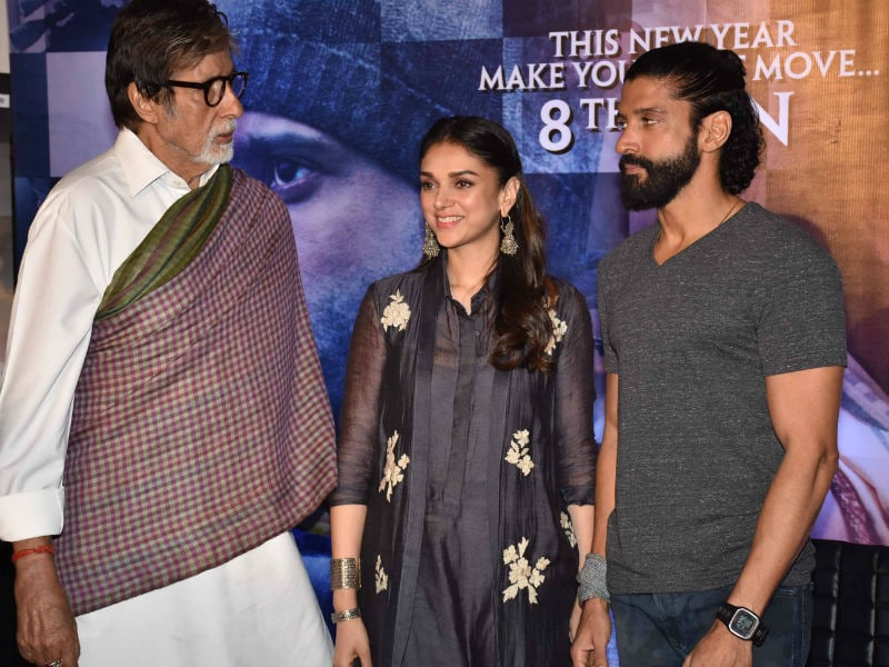 A Day of the Wazirs: Big B, Farhan, Aditi