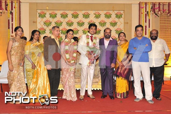 Rajini, Kamal Haasan at Shakthi\'s wedding