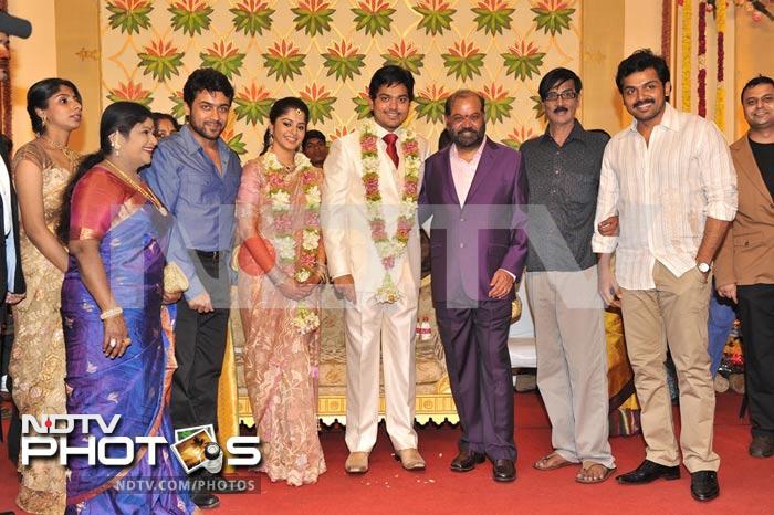 Suriya, Karthi at Shakthi\'s wedding