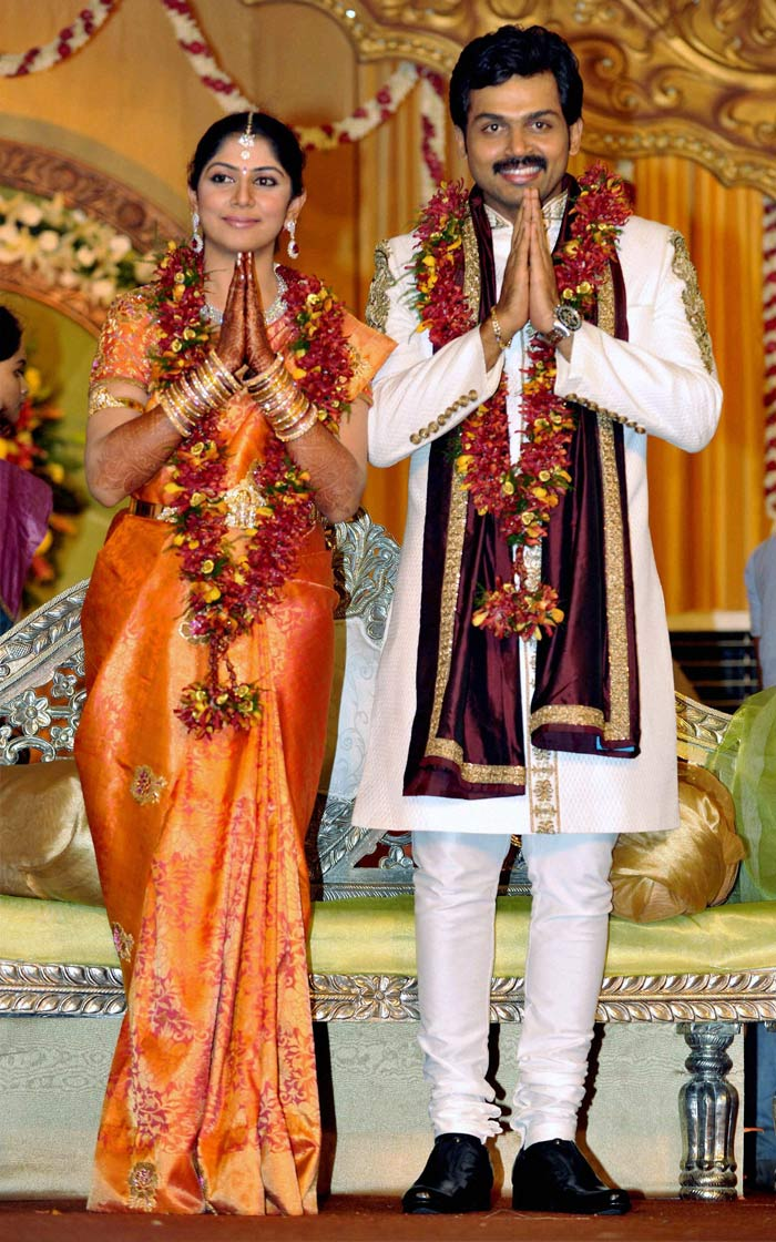 Karthi-Ranjani\'s wedding reception