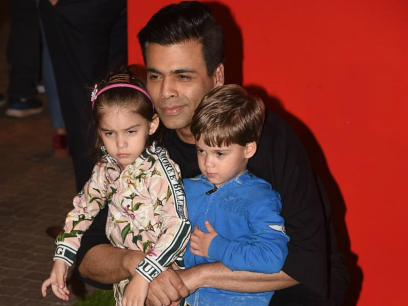 Karan Johar Attends Christmas Wonderland With Kids Yash And Roohi