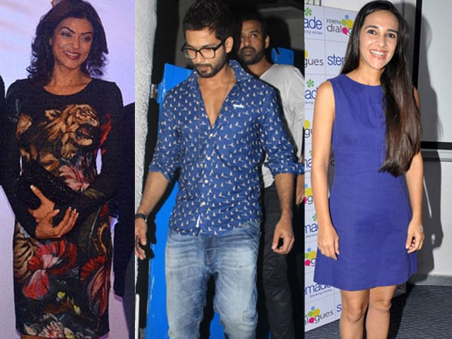 Photo : How Sushmita, Shahid, Tara Spent Their Saturday