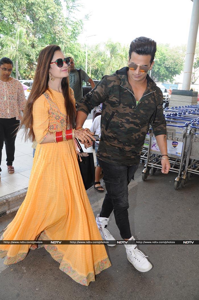 Prince Narula, Yuvika Chaudhary Spotted Hand-In-Hand