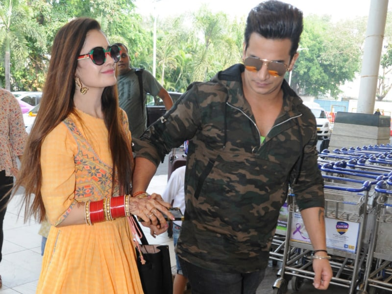 Prince Narula, Yuvika Chaudhary Spotted Hand-In-Hand