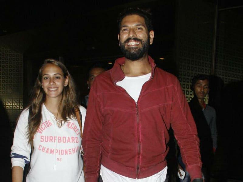 Photo : Yuvraj Singh And Hazel Keech Return To India After Honeymoon