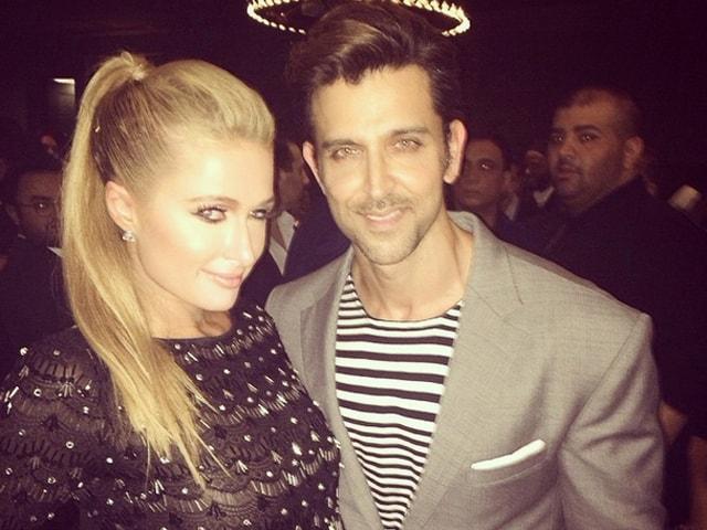 Photo : Hrithik Roshan's Dinner Date With Paris Hilton