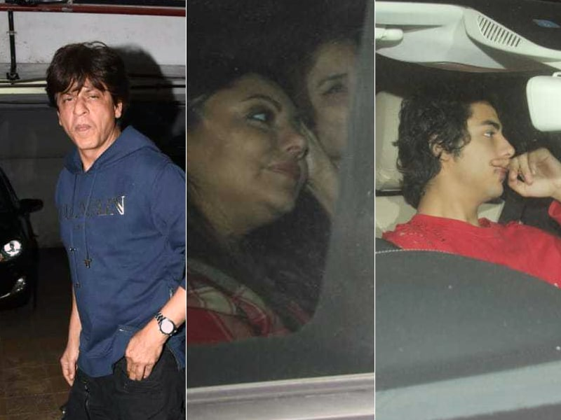 Shah Rukh Khan Attends Zero Screening With Gauri And Aryan