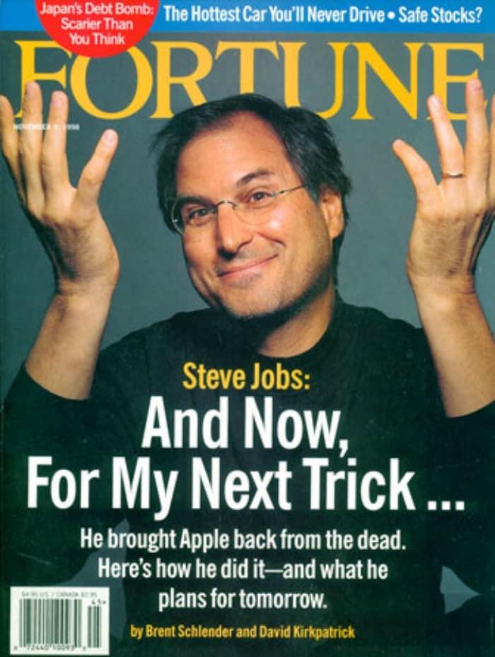 25 Steve Jobs magazine covers