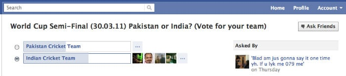 The online buzz for India Vs. Pak