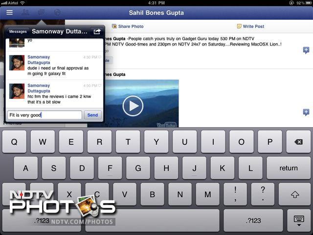 Exclusive First Look : The Facebook iPad App