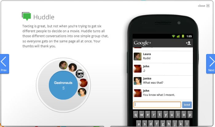 5 differences between Google+ and Facebook