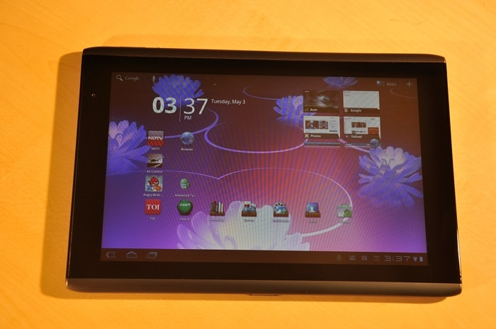 Acer Iconia Tab A500 : India's first Honeycomb tablet
