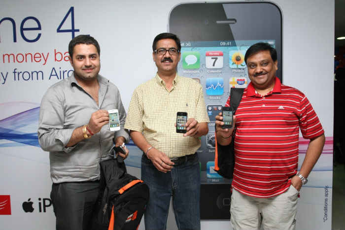 They own the first iPhone 4 in India. Officially.