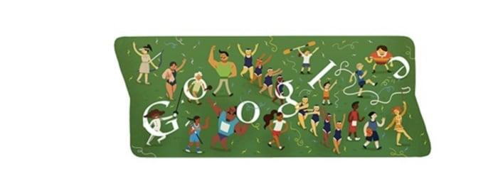 Olympic Google doodles