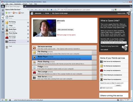 Opera Unite: Web server on a Web browser