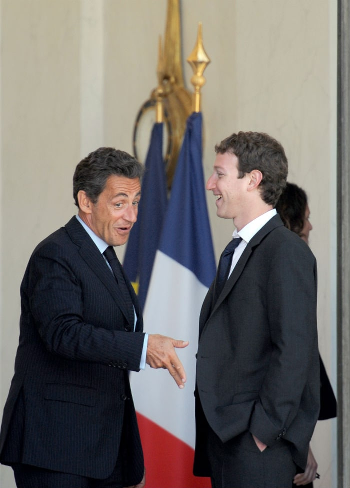 In Pics: The Zuckerberg-Sarkozy Friend Request