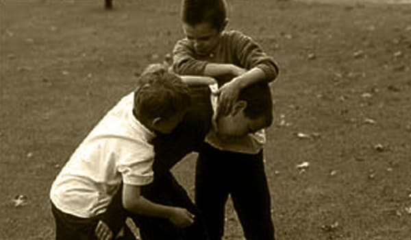 Keep the children away from people or playmates who are aggressive.