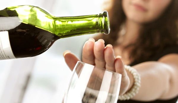 Get rid of all the alcohol in the house. If you have a spouse or roommate who drinks, kindly ask them not to drink around you. If you're serious about quitting alcohol, this is a step you must take.