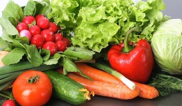 Eat fresh, fibrous vegetables