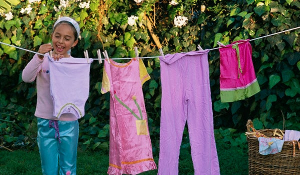 Involve your child in daily activities like arranging bed, laundering the sheets.