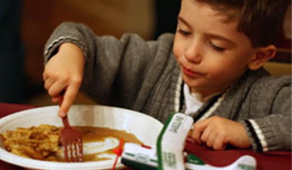 Have an early dinner, and ascertain that your child doesn