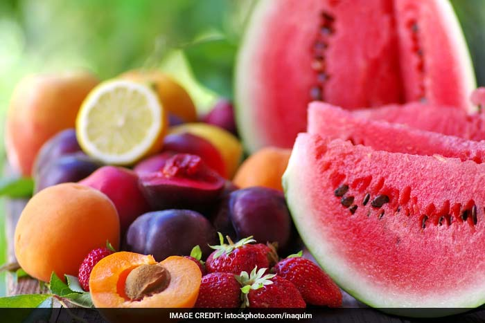 Fruits contain 90-95% water, which have a diuretic (increases urination) effect on the body and help eliminate the toxins and nitrogenous wastes from the body.