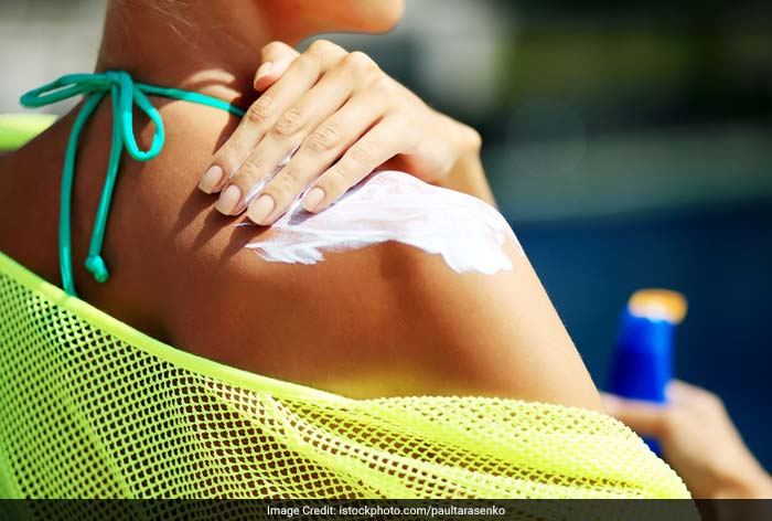Apply sunscreen lotions to prevent burning - a sunburn prevents your body from cooling down.