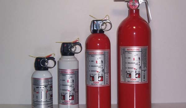 Keep small portable extinguishers handy for urgent use.