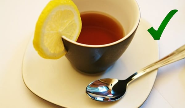 Try to switch to herbal tea rather than caffeinated tea.