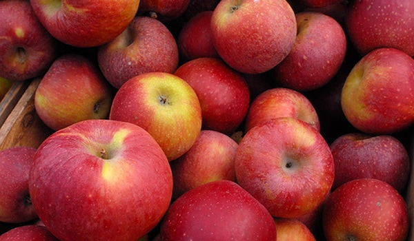Apples help stimulate the intestine. Eating them raw with the peel is better than slicing them.