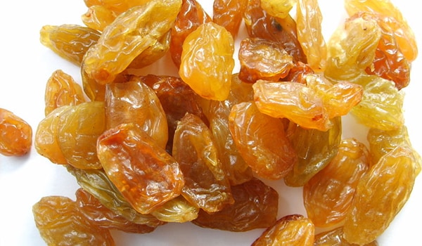Having 5-6 raisins soaked in water overnight helps relieving constipation.