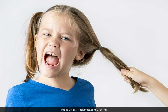 Hair pulling (Trichotillomania) - Children and sometimes adults will twist or pull their hair, brows or lashes until they come out. In children especially, this is often just a bad habit that gets better when the harmful effects of that habit are explained. Sometimes hair pulling can be a coping response to unpleasant stresses and occasionally is a sign of a serious problem needing the help of a mental health professional.
