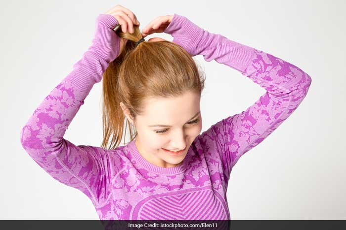 Hairstyles that pull on the hair, like ponytails and braids, should not be pulled tightly and should be alternated with looser hairstyles. Constant pull causes some hair loss, especially along the sides of the scalp.