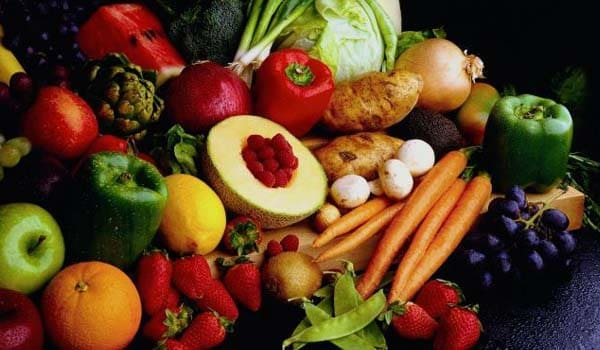 Eat plenty of fresh fruit and vegetables as well as a variety of whole grains.