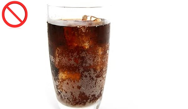 Most refreshing drinks and aerated drinks have a high concentration of sugar, and hence should be restricted for healthy teeth.
