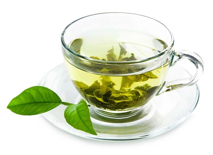 Green tea helps you lose weight by raising your metabolism and also through fat oxidation.