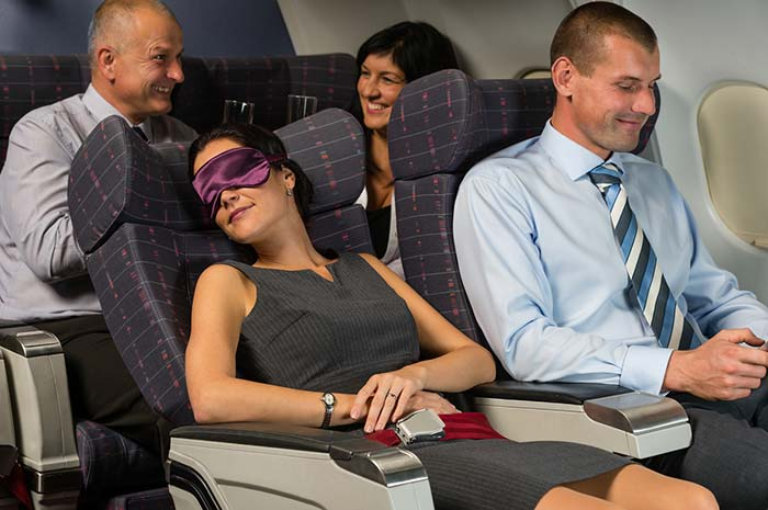 A sound and quality sleep also help prevent jet lag. To get quality sleep while flying use ear plugs, eye masks or pillows.