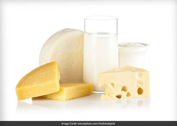 Studies have shown that the inclusion of at least two servings of high calcium foods per day in the diet reduces the rate at which calcium-containing kidney stones form. A cup of low-fat milk contains 300 mg of calcium.