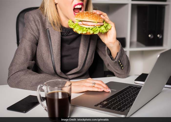 People often have snacks while working in front of the computer, driving, watching TV, or standing at the kitchen counter, shopping with a friend, or talking on the phone and one doesn